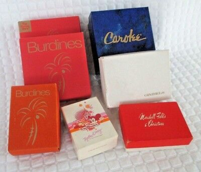 Lot of 7 Vintage Small Gift Boxes - Burdines, Fields, Gimbels, Disney