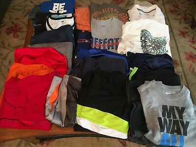Lot Of 25 Pieces Of Boys Summer Clothing Sizes 12/14, 14, 14/16 *nike And More*