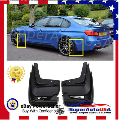 FOR 2012-2018 BMW 3 Series F30 F31 OE Style Splash Guards Mud Guards Mud Flaps