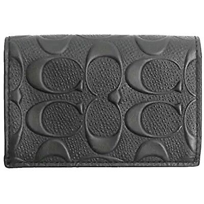 Coach Business Card Case, Men or Woman, Black Leather, New Off the Shelf, No Box
