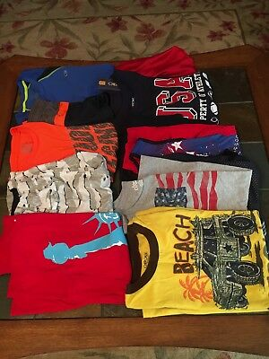 Lot Of 12 Pieces Of Boys Clothing Sizes 12/14, 14 *hawk, Circo, Cherokee*