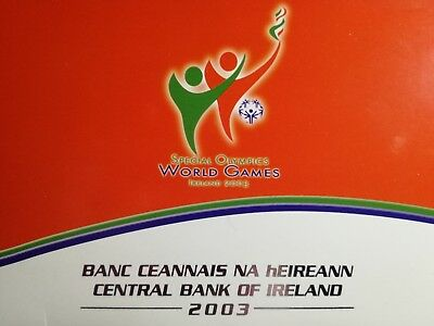 IRELAND Official Euro 9 Coins Set 2003 BU with 5 euro Special Olympics