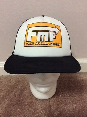 5155ed6f178 FMF Flying Machine Factory Racing Trucker style Snapback Black White Gold