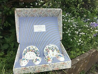 Vintage Laura Ashley Hazelbury Tea Set, original box.