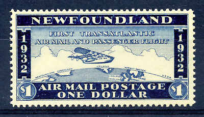 Newfoundland VF MNH Wayzata 1932 unofficial airmail label, with article CV $50