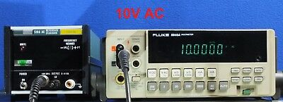 Good FLUKE 510A 10V 1KHz AC Reference Standard Calibrator TESTED for Accuracy