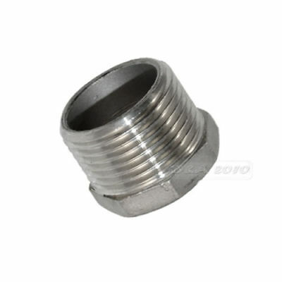 "NPT 1"" Male x 3/4"" Female Thread Reducer Bushing Pipe Fitting SS 304"
