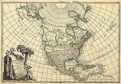 12x18 inch Reprint of American Map Northern Usa