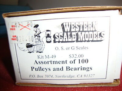 Hon3   O,s Or G Scale   Western Scale Pulleys And Bearings