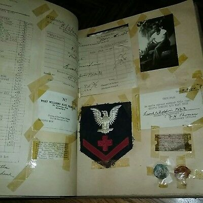 WWII Scrapbook Photos Patches Dog Tags Letters Western Union V Mail MUCH MORE!