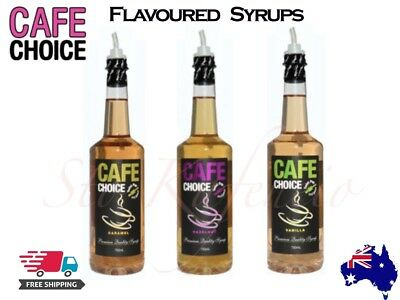 1x Cafe Choice Flavoured Coffee Syrup 750ml Caramel, Hazelnut Or Vanilla