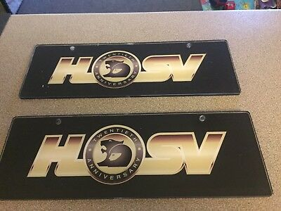 Holden 20th Anniversary Dealer Display Number Plates Perspex Plastic Sign