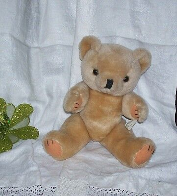 "Vintage ""classic Jointed"" Teddy Bear-12 Inch Tall-Beige"