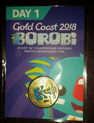 DAY 1 - 2018 COMMONWEALTH GAMES BOROBI $1 COIN - SCARCE - ONLY 1000 of EACH DAY