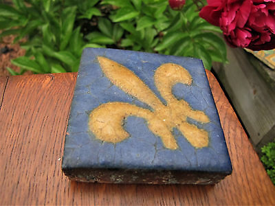 "Great Antique Arts & Crafts ""Grueby"" Tile (Boston)  inv4219"