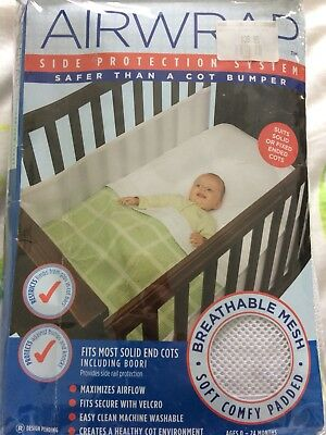 Exc Cond Airwrap Mesh Cot Bumper, Covers 2 sides