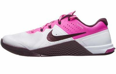 NIKE Metcon 2 Women s Training Shoes sz 11.5 12 MSRP 130 White Maroon Pink 09ae02022