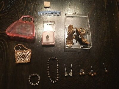 VTG 1950s Madame Alexander Elise Doll Jewelry RARE Ring Shoes Purse Necklace
