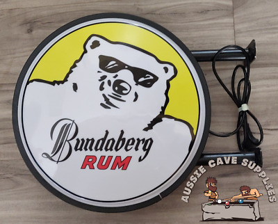 Bundaberg Rum Bundy Bear LED Doublesided Lightbox Light Box 240v 400mm