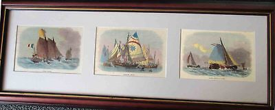 Boats. Three views.1871
