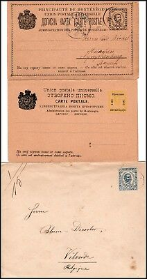 MONTENEGRO: 3 postal stationery cover, postcard and double-postcard (505)