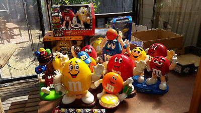 Collection of 16 M&M M&M's Dispensers Some Hard to find