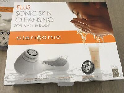 Bargain!Clarisonic Plus RRP£180 Sonic Skin Cleansing System White Face Skin Body