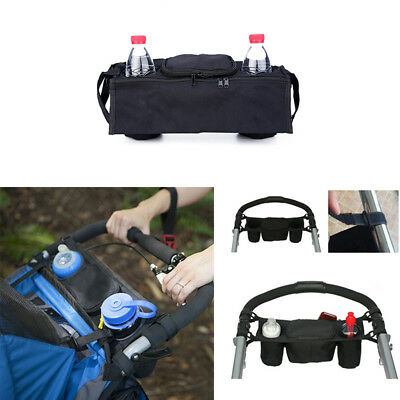 Baby Pram Stroller Buggy Pushchair Organizer Bottle Cup Drink Holder Stroge Bag