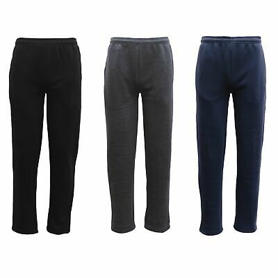 New Mens Fleece Lined Track Pants Casual Trackies Slacks Tracksuit Casual Winter