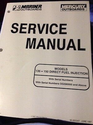 mercury mariner outboard motor service manual 135 150 direct fuel Yamaha Outboard Motor Serial Number mercury mariner outboard motor service manual 135 150 direct fuel injection