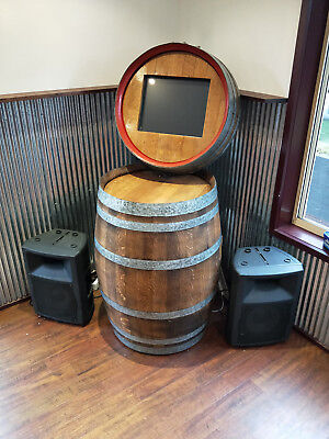 Jukebox, digital, man cave, wine barrel, approx 2500 songs, karaoke.