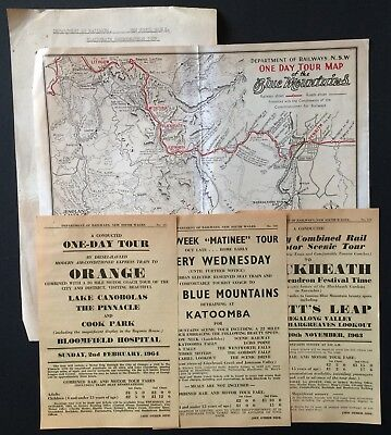 Handouts - Tour by Electric Train and Coach Blackheath, Orange + others -1963/64