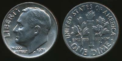 United States, 1971 Dime, Roosevelt - Uncirculated