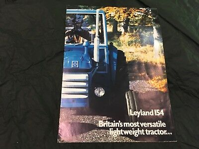 Agricultural Tractor Sales Brochure 1972 Leyland 154 Good Clean Condition