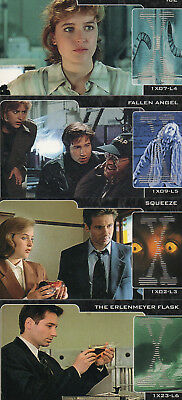 The X-Files Showcase - Lot of 4 different Laser chase cards EXC Topps