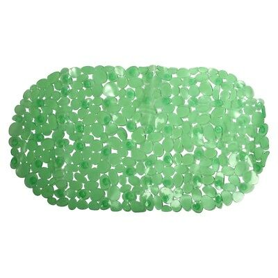 Anti-slip bath mat with suction cups - Transparent Green T6X9