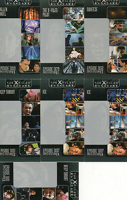 The X-Files Showcase - Lot of 7 X-Effect chase cards EXC Topps 1997