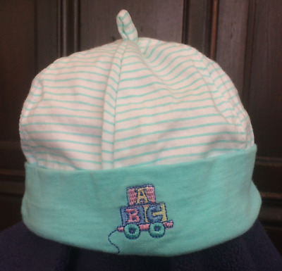 Soft cotton beanie, newborn (3 to 6 months)