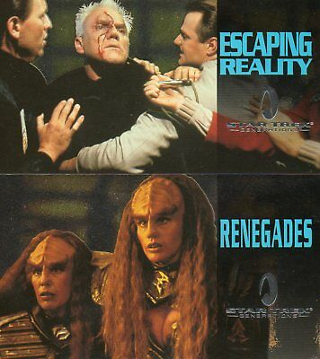 Star Trek Generations - Lot of 2 different Foil Chase Cards EXC Skybox 1995