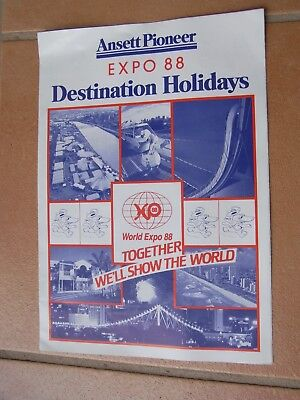 Ansett Pioneer Expo 88 Holiday Brochure