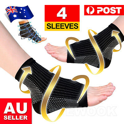 2 Pair Foot Sleeve Plantar Fasciitis Compression Socks Achy Swelling Heel Ankle