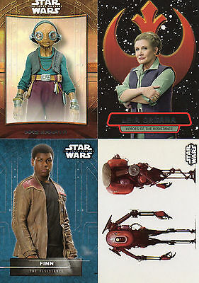 Star Wars Force Awakens Series 2 - Lot of 51 Different Chase Cards NM Topps 2016