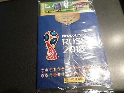 album foot  panini world cup russia 2018  sealed  edition french +4pochettes
