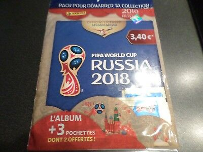 album foot  panini world cup russia 2018  sealed  edition french +5 pochettes