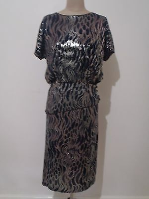 Vintage Peer Gynt Outfit, Metallic Silver And Black Size 10, Great Condition!
