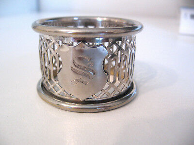 """Victorian silver napkin ring engraved with the initial """"S"""""""