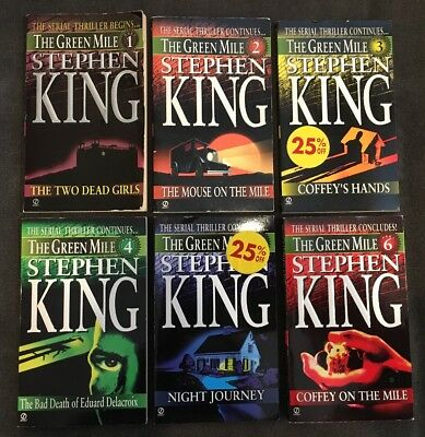 Stephen King First Edition The Green Mile Series Complete Set Parts