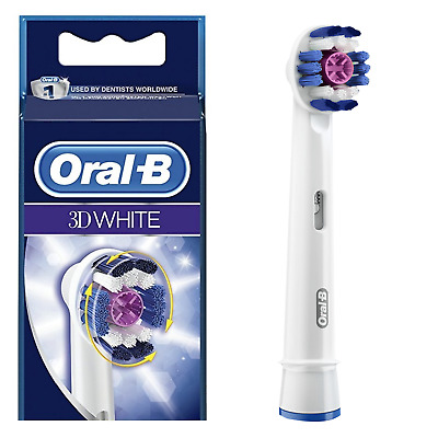 Braun Oral B 3D White Replacement Electric Toothbrush Heads BUY 2 GET 1 FREE