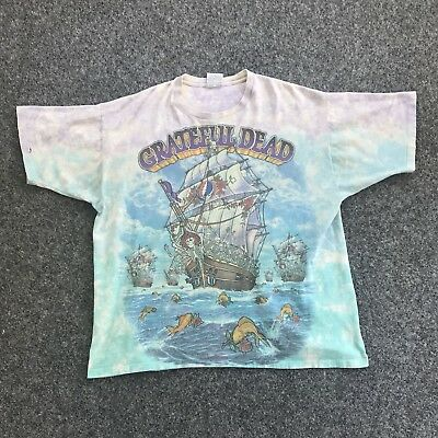 Vintage Original 1993 Liquid Blue Grateful Dead Sea Of Fools Rock Rap Tee