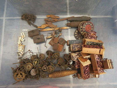 Large Collection  Of Vintage Cuckoo Clock Spare Parts
